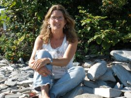 Patricia Erikson on Peaks Island's Backshore