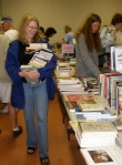 Loaded down with treasures at the annual book sale