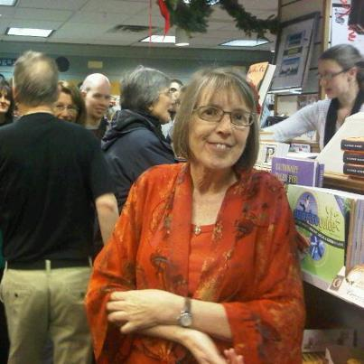 Eleanor Morse, at her reading at Longfellow Books