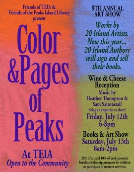 Poster for Color & Pages of Peaks event