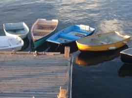 Boats on Peaks Island