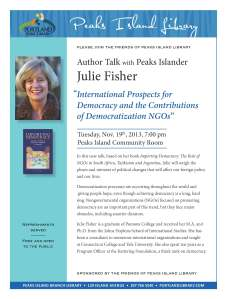 Author Julie Fisher event