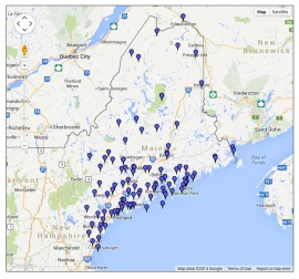 Explore the Maine Literary Map