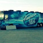 American Idol bus on Maine State Pier
