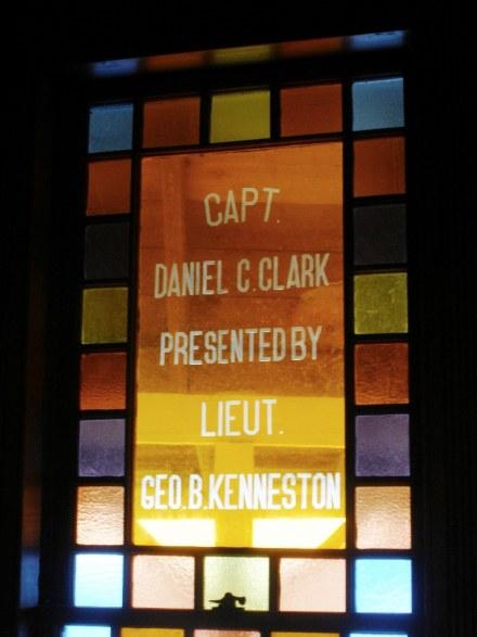 Memorial window of Fifth Maine Regiment Museum