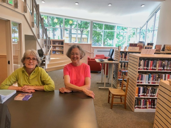 Rose Ann Walsh (Senior Library Technical Assistant) and Priscilla Webster (Library Branch Manager)