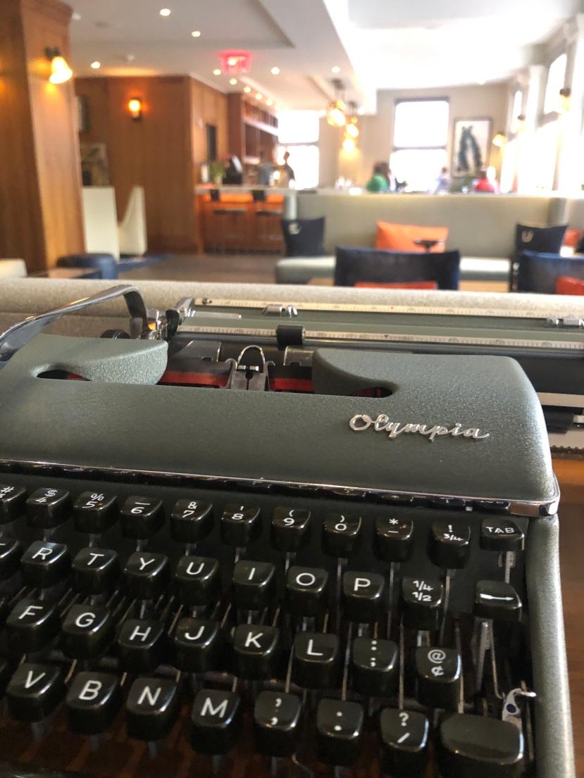 Typewriter Inkwell Bar